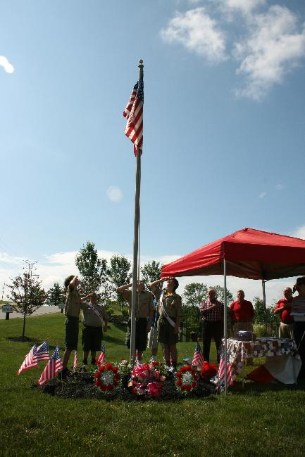 Flag Raising on Memorial Day at new flag pole